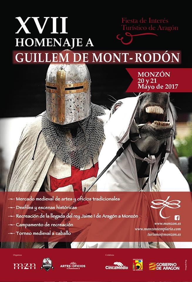 Lurte Compañía Almogávar, Web Oficial, Noticia. Lurte en Monzón 2017. Homenaje a Guillem de Mont-Rodón